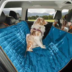 The Loft Dog Hammock keeps your pup out of the front seat while also protecting your car seats. Waterproof, reversible, and quilted.