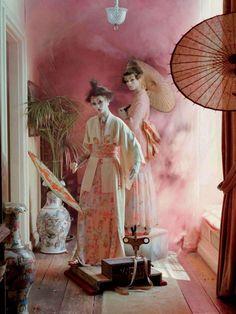 """Mechanical Dolls"" | Models: Audrey Marnay & Kirsi Pyrhonen, Photographer: Tim Walker, Vogue Italia, October 2011"