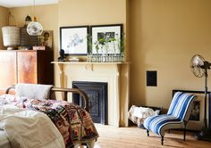 Mellow Yellow - Designer Chris Benz's Colorful Brooklyn Brownstone - Photos