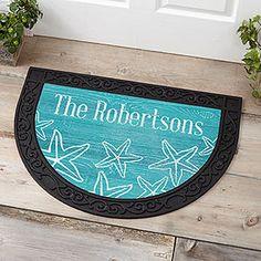 Beach House Personalized Half Round Doormat