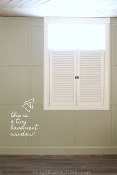 Wondering what window coverings to use for your basement windows? Here's a roundup of basement window treatments, ideas on how to make a small basement window look bigger, and what to do with your window well. Basement Guest Rooms, Small Basement Remodel, Basement Apartment, Basement Walls, Basement Renovations, Home Remodeling, Basement Ideas, Basement Bathroom, Rustic Basement