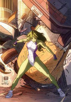 She Hulk by cuccadesign on @DeviantArt