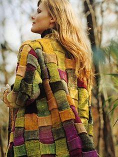 ♥ Ravelry: Y-842 Ladies Jacket pattern by Junko Isaji (伊佐治 順子) entrelac knit jacket - gorgeous!