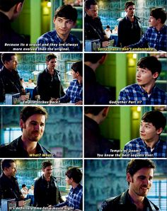 I laughed so hard at the scene. It was hilarious - I will never get tired of Hook's confusion with our world.