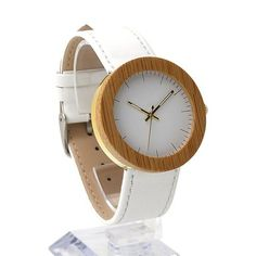 This super-stylish, no-logo timepiece is perfect to complement any outfit. This handmade Eco-friendly wooden watch is natural...
