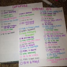 @courtneynewboldd couples bucket list (: