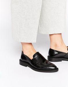 Image 1 - Selected - Anneke - Chaussures plates en cuir - Noir