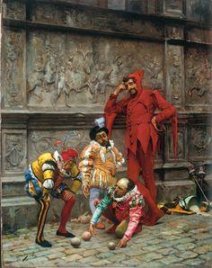 Eduardo Zamacois y Zabala- Bufones Jugando al Cochonnet(c.1880) Bilbao, Museo de Bellas Artes de Bilbao