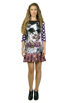 Savage Culture: Purple Rose Long Sleeve Wendy Dress. Can you rock this dress!?