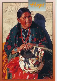 USA - Hopi Indian woman. Look at that basket! wOW!