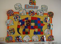 A super Elmer classroom display photo contribution. Great ideas for your classroom! Preschool Displays, Classroom Displays, Early Years Displays, Nursery Display Boards, Preschool Family Theme, Elmer The Elephants, Harmony Day, Kindergarten Projects, Lesson Plans For Toddlers