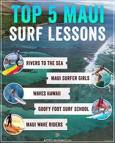 Hawaii is naturally a mecca for surfing. With over 20 surf schools on Maui alone, it can be tricky to pick the right one. Entering the ocean should always be taken seriously, so we've compiled a list of the island's top 5 best, most trusted #Mauisurfschools
