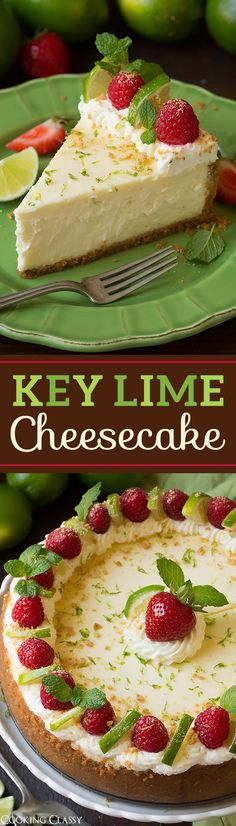 Key Lime Cheesecake - the perfect summer cheesecake! This is TO DIE FOR! Key Lime Cheesecake - the perfect summer cheesecake! This is TO DIE FOR! Summer Cheesecake, Key Lime Cheesecake, Cheesecake Recipes, Homemade Cheesecake, Cheesecake Cupcakes, No Bake Desserts, Just Desserts, Dessert Recipes, Summer Desserts