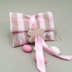 Υφασμάτινος φάκελος σε καρό ροζ με μπεζ