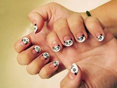 This made me think of you, Becker. Colorful Nail Designs, Cute Nail Designs, Penguin Nail Art, Nails Art 2016, Black And White Stickers, Black White, Toe Nails, Nails Inspiration, How To Do Nails