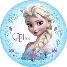 Frozen Elsa Anna Edible Image Photo Cake Topper Sheet Birthday Party - 8 Inches Round - 10049 * Remarkable product available - Baking tools