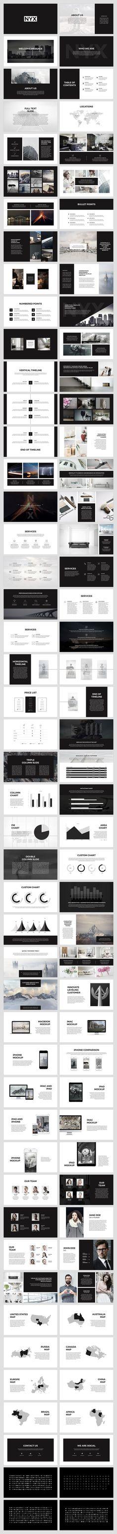 Greek powerpoint template pinterest greek template and layouts nyx presentation template by slidestation on creativemarket toneelgroepblik Images