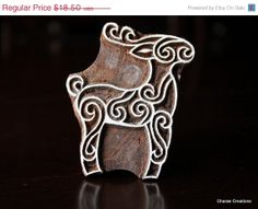 BOXING DAY SALE Indian Wood Block Stamp  by charancreations, $14.80