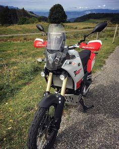 """@t700rally on Instagram: """"Haute-Savoie, le 02.08.2020 Red Red.. White!🎵🍷🤪 #hautesavoiexperience #hautesavoie #YamahaTenere700 #yamahaXT #T700 #XTz690 #yamahaXTz690…"""" Bike Stuff, Motorbikes, Yamaha, Motorcycles, Adventure, Photo And Video, Vehicles, Instagram, Car"""