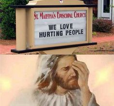Christian Memes This is how I feel about church signs. You sad people Funny Church Memes, Funny Church Signs, Church Humor, Catholic Memes, Funny Signs, Funny Christian Memes, Christian Humor, Jesus Meme, Jesus Funny