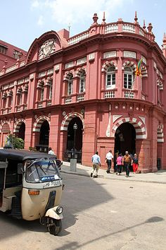 #76 Colombo Fort, Sri Lanka - Take a tour around Fort to see the beautiful Colonial era buildings: The pic shows the Cargills Building built in 1902 with its Victorian grand mercantile red brick façade and Renaissance style architecture.