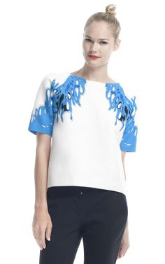 Surf Multi Coral Tee by Tibi for Preorder on Moda Operandi
