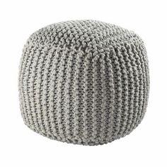 Pouf tressé en laine gris BALTIQUE, 79,99 € sur Maison du Monde