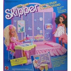 Had this set. Fairly certain I got it second-hand in the mid 90's. I played with barbies and various dolls until I was in 8th grade. Makes sense to work with/for toy companies these days and design for kids/tweens most of the time.