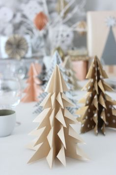 Diy Origami, Table Decorations, Christmas, Blog, Home Decor, Navidad, Creative, Homemade Home Decor, Weihnachten