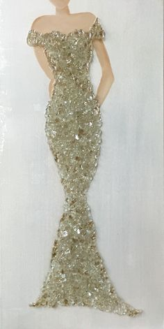 Champagne dress Art Shattered booth in 44 Marketplace, Eatonton, GA