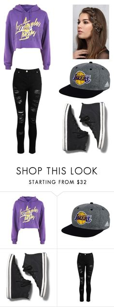 """""""Los Angeles Lakers"""" by lesley-danae-2003 on Polyvore featuring adidas, Keds, Dorothy Perkins and Rare London"""