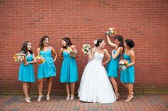 Love this beautiful wedding via @Karen Jacot Darling Me Pretty featuring the Jessie and Morgan in Blue Green