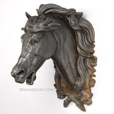 ©Old horse head left Horse Sculpture, Animal Sculptures, Wall Sculptures, Horse Head, Horse Art, Draw On Photos, Horse Drawings, Equine Art, Pretty Horses