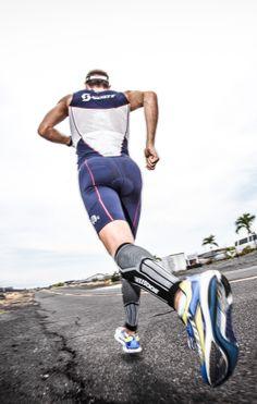 #triathlon athlete Cyril Viennot at #ironman Hawaii.
