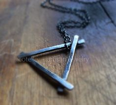 Triangle Necklace and Sterling Silver  Minimal Necklace by COTELLE
