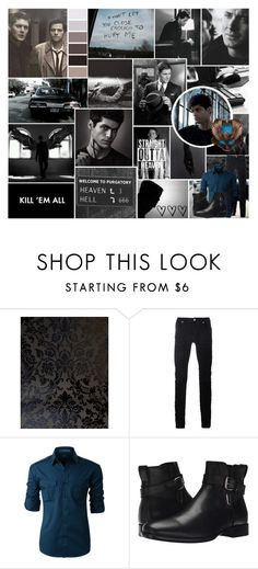 """""""This isn't funny Dean, the voice says I'm almost out of minutes"""" by natasha-maree13 ❤ liked on Polyvore featuring Brewster Home Fashions, Diesel Black Gold, LE3NO, Aquatalia by Marvin K., men's fashion, menswear, polyvoreeditorial and monstersluttofinish"""