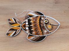 """Quilling """"Africa Fisch"""" Preis 15 € Maße 15 x 24 cm Quilling, Cuff Bracelets, Africa, Christmas, Art, Random Stuff, Sculptures, Bedspreads, Xmas"""