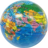 Awesome world globe stress ball, or squeezy ball or whatever you call it. Learn some geography while relieving some stress.