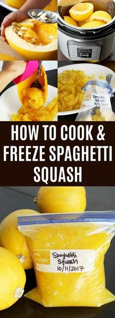 Ready to learn How to Cook Spaghetti Squash? This is the ultimate guide to making perfect squash! Bake, slow cook, pressure cook, or use an Instant Pot. Freezing Spaghetti Squash, Spaghetti Squash Recipes, Veggie Spaghetti, Low Carb Recipes, Snack Recipes, Whole30 Recipes, Supper Recipes, Supper Ideas, Canning Recipes