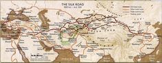 The Silk Road, other trade routes and hubs through Asia 300BC - 100AD