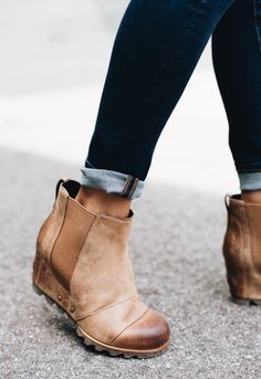 Sorel Lea Wedge, elk curry or umber brown, size 7 Source by sandraaushagen boots outfit Booties Outfit, Ankle Booties, Tan Wedges Outfit, Fall Booties, Fall Shoes, Crazy Shoes, Me Too Shoes, Sorel Wedge Boots, Fashion Shoes