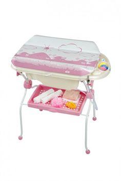 Bañera cambiador plegable sobre bidé King Baby cigüeña rosa [857] | 105,00€ : La tienda online para tu peke | tienda bebe pekebuba.com