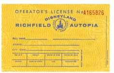 Early 1956 Autopia license back.