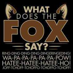 """""""What Does The Fox Say?"""""""