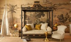 glamorous row house daybed