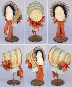 Ladies' Victorian 1840 1850s Bonnet Historic Hat Pattern by Lynn Mcmasters