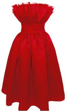 Plakinger Valentine Red Silk Organza Dress $741 At Runway2Street Stunning red Valentine dress luxe lipstick red silk organza strapless ruffled bodice cinched waist flared skirt invisible back zipper fully lined. https://api.shopstyle.com/action/apiVisitRetailer?id=510088524&pid=uid841-37799971-81