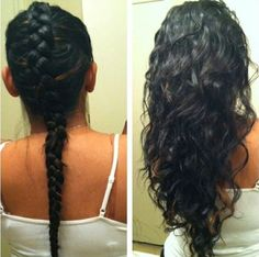 No Heat Hairstyles an entire month without a blow dryer, curling iron or straightener. Overnight curls, Heatless waves and No heat waves. Overnight Hairstyles, Curly Hair Overnight, Overnight Curls, Heatless Waves Overnight, Damp Hair Styles, Curly Hair Styles, Natural Hair Styles, Braids For Wavy Hair, Curls Hair