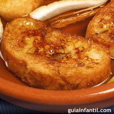Receta de torrijas a la naranja. GuiaInfantil.com les ofrece una receta de torrijas de lo más espectacular: Torrijas a la naranja, ideales para el postre o la merienda de los niños.