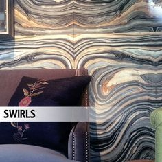 Love the marbled wallpaper by Robert Crowder